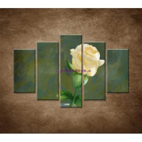 Obrazy na stenu - Maľovaná ruža - 5dielny 150x100cm