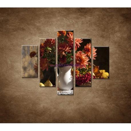 Obrazy na stenu - Kytica - 5dielny 100x80cm