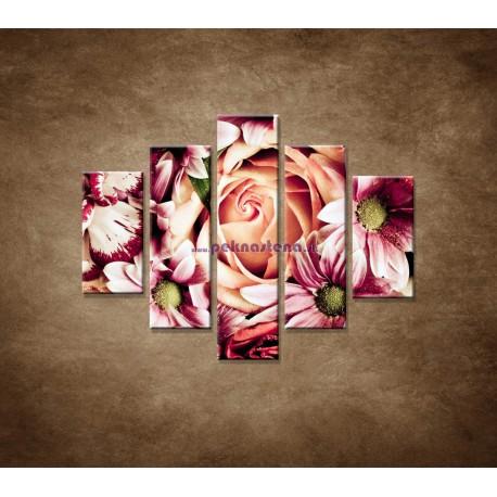 Obrazy na stenu - Kytica kvetov - 5dielny 100x80cm