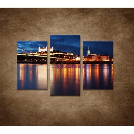Obrazy na stenu - Bratislava - 3dielny 75x50cm