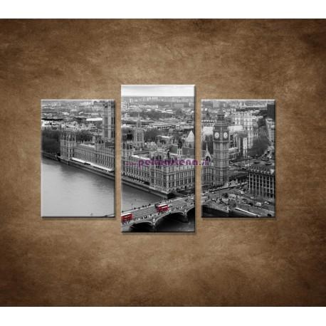 Obrazy na stenu - Čiernobiely Londýn - 3dielny 75x50cm