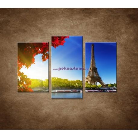 Obrazy na stenu - Eifelova veža - 3dielny 75x50cm