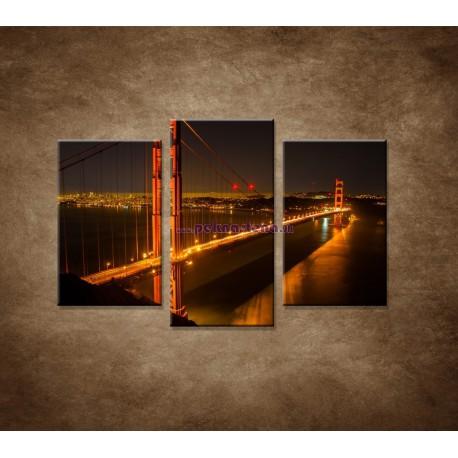 Obrazy na stenu - Golden Gate Bridge - 3dielny 75x50cm