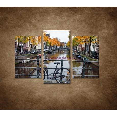 Obrazy na stenu - Jeseň v Holandsku - 3dielny 75x50cm