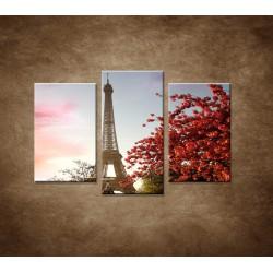 Obrazy na stenu - Jesenná Eifelovka - 3dielny 75x50cm