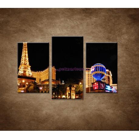 Obrazy na stenu - Las Vegas - 3dielny 75x50cm