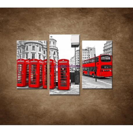 Obrazy na stenu - Londýn - 3dielny 75x50cm