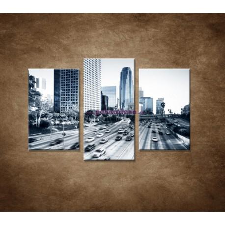 Obrazy na stenu - Mesto a dialnica - 3dielny 75x50cm
