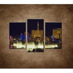 Obrazy na stenu - Nočné Las Vegas - 3dielny 75x50cm