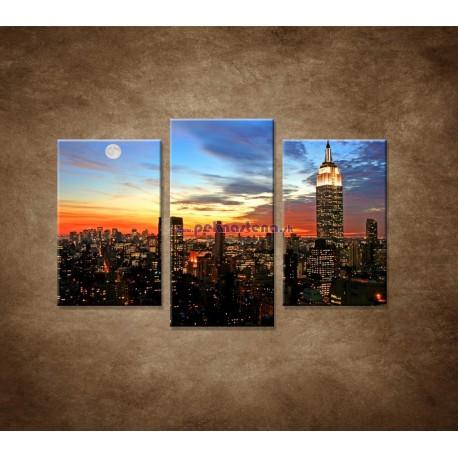 Obrazy na stenu - Nočný New York - 3dielny 75x50cm