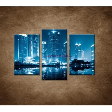 Obrazy na stenu - Shanghai - 3dielny 75x50cm