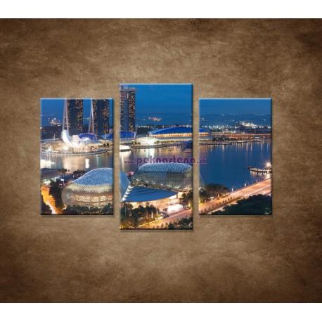 Obrazy  na stenu - Singapur - 3dielny 75x50cm