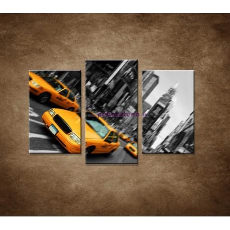 Obrazy na stenu - Taxi v New Yorku - 3dielny 75x50cm
