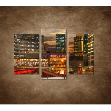 Obrazy na stenu - Výhľad v Shanghaii - 3dielny 75x50cm