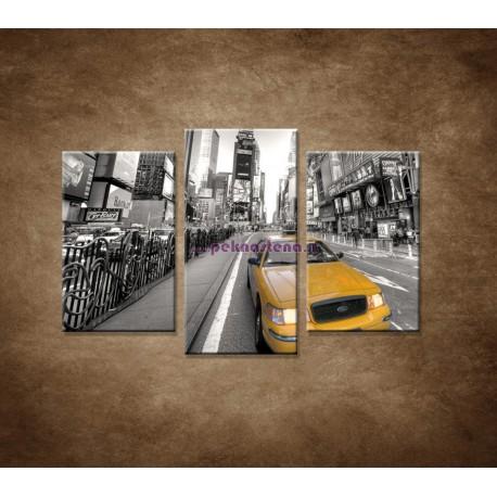 Obrazy na stenu - Žltý taxík - 3dielny 75x50cm