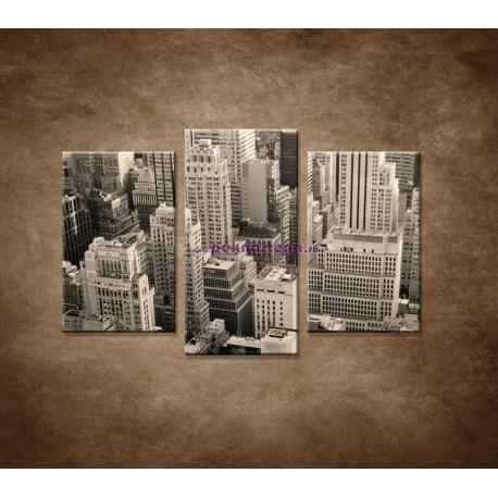 Obrazy na stenu - Mestské mrakodrapy - 3dielny 75x50cm