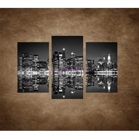 Obrazy na stenu - New York v noci - 3dielny 75x50cm
