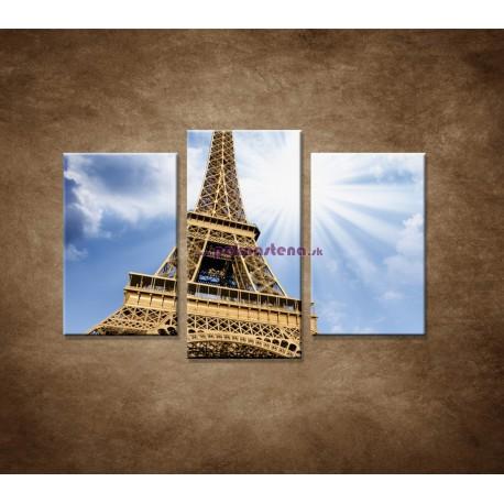 Obrazy na stenu - Pohľad na Eifelovu vežu - 3dielny 75x50cm