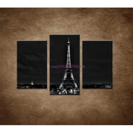 Obrazy na stenu - Čiernobiela Eifelovka - 3dielny 75x50cm