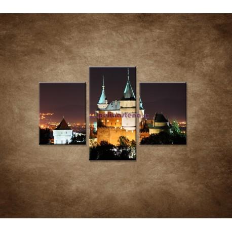 Obrazy na stenu - Bojnický zámok  - 3dielny 90x60cm