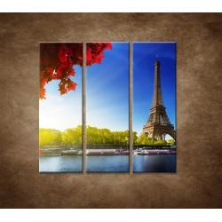 Obrazy na stenu - Eifelova veža - 3dielny 90x90cm