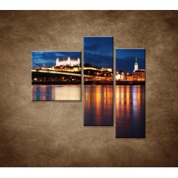 Obrazy na stenu - Bratislava - 3dielny 110x90cm