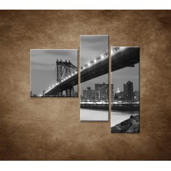 Obrazy na stenu - Manhattanský most - 3dielny 110x90cm