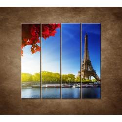 Eifelova veža - 4dielny 120x120cm