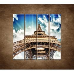 Obrazy na stenu - Eifelova veža zdola - 4dielny 120x120cm