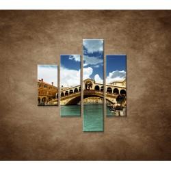 Obrazy na stenu - Benátky - 4dielny 80x90cm