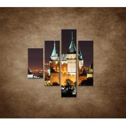 Obrazy na stenu - Bojnický zámok - 4dielny 80x90cm