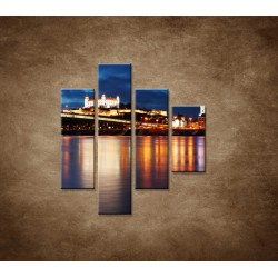 Obrazy na stenu - Bratislava - 4dielny 80x90cm