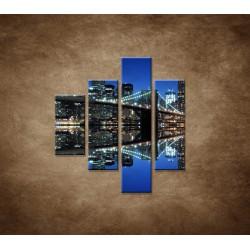 Obrazy na stenu - Brooklyn - 4dielny 80x90cm