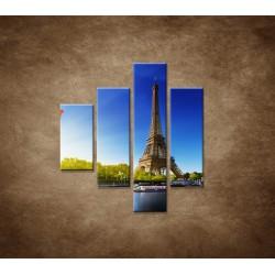 Obrazy na stenu - Eifelova veža - 4dielny 80x90cm