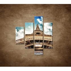 Obrazy na stenu - Eifelova veža zdola - 4dielny 80x90cm