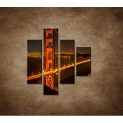 Obrazy na stenu - Golden Gate Bridge - 4dielny 80x90cm