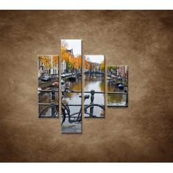 Obrazy na stenu - Jeseň v Holandsku - 4dielny 80x90cm