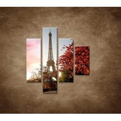 Obrazy na stenu - Jesenná Eifelovka - 4dielny 80x90cm
