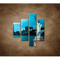 Obrazy na stenu - Manhattan a Socha Slobody - 4dielny 80x90cm