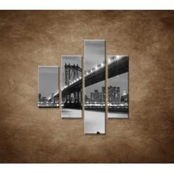 Obrazy na stenu - Manhattanský most - 4dielny 80x90cm