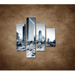 Obrazy na stenu - Mesto a diaľnica - 4dielny 80x90cm