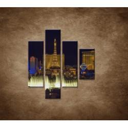 Obrazy na stenu - Nočné Las Vegas - 4dielny 80x90cm