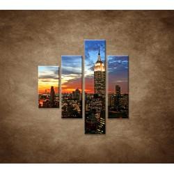 Obrazy na stenu - Nočný New York - 4dielny 80x90cm