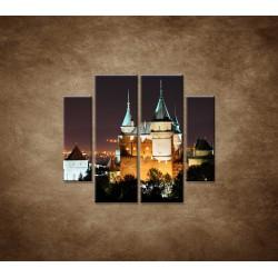 Obrazy na stenu - Bojnický zámok - 4dielny 100x90cm