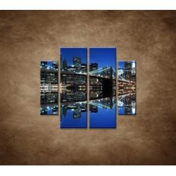 Obrazy na stenu - Brooklyn - 4dielny 100x90cm