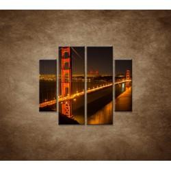 Obrazy na stenu - Golden Gate Bridge - 4dielny 100x90cm