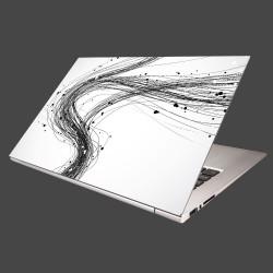 Nálepka na notebook - Abstraktné čiary