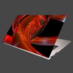 Nálepka na notebook - Červené kruhy