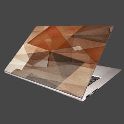 Nálepka na notebook - Hnedá abstrakcia