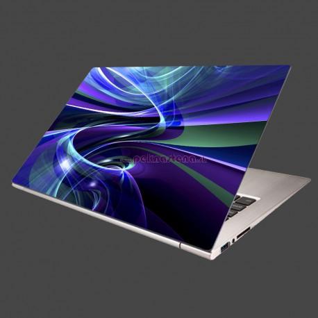 Nálepka na notebook - Modré abstraktné pozadie